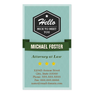 Attorney at Law - Vintage Style Hello Pack Of Standard Business Cards