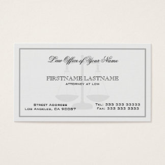 Attorney At Law White Linen Texture Business Card