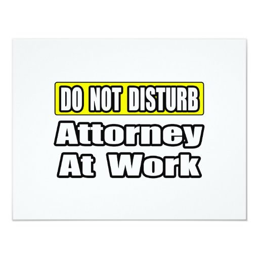 Attorney At Work 11 Cm X 14 Cm Invitation Card