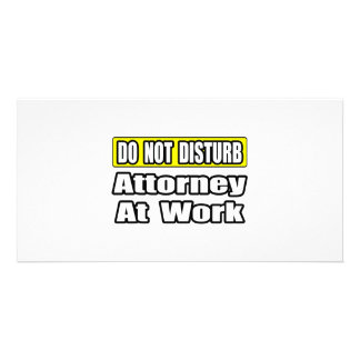 Attorney At Work Picture Card