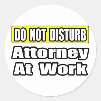 Attorney At Work Sticker