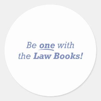 Attorney / Be One Round Sticker