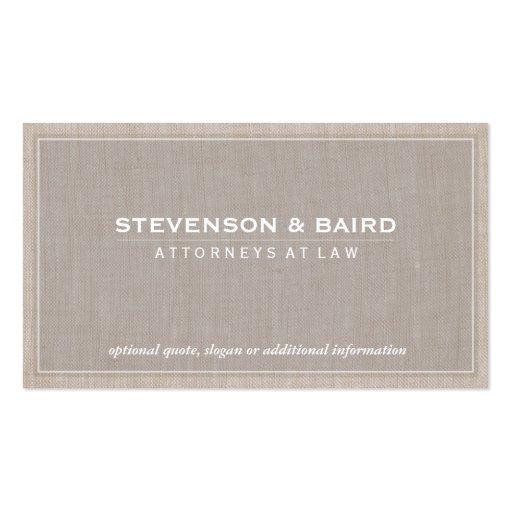 Attorney Beige Linen Elegant Professional Pack Of Standard Business Cards
