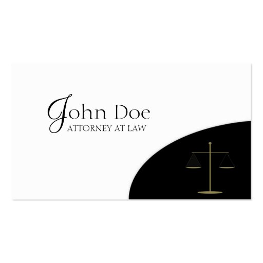 Attorney Black/Gold Corner Pack Of Standard Business Cards