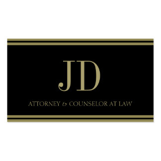 Attorney Black Gold Stripes Business Cards