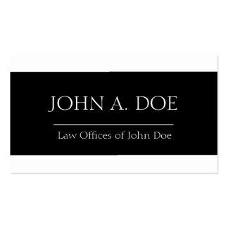 Attorney Black Ribbon W/W Business Cards