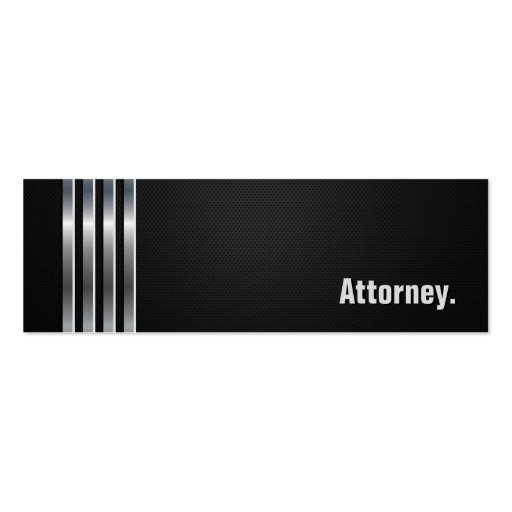 Attorney - Black Silver Stripes Business Card Templates