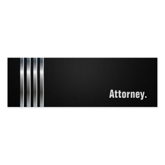 Attorney - Black Silver Stripes Pack Of Skinny Business Cards