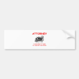 attorney bumper stickers