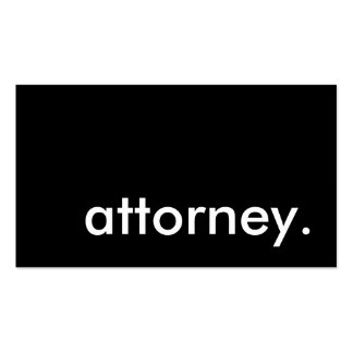 attorney. pack of standard business cards