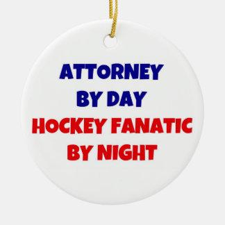 Attorney by Day Hockey Fanatic by Night Ceramic Ornament