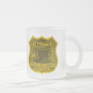 Attorney Caffeine Addiction League Frosted Glass Mug
