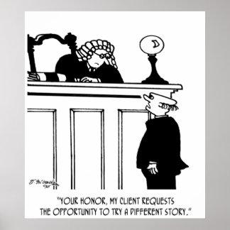 Attorney Cartoon 5496 Poster