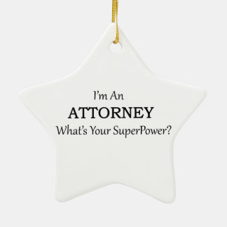 Attorney Ceramic Star Decoration