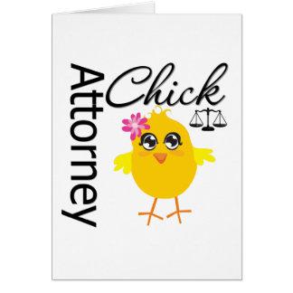 Attorney Chick v1 Greeting Card