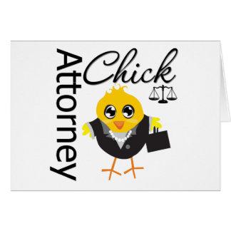 Attorney Chick v2 Greeting Card