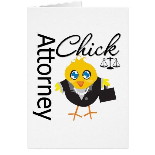 Attorney Chick v3 Greeting Card