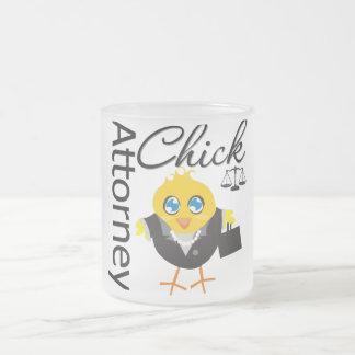 Attorney Chick v3 Frosted Glass Mug
