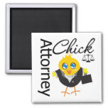 Attorney Chick v3 Square Magnet