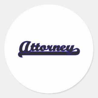 Attorney Classic Job Design Round Sticker