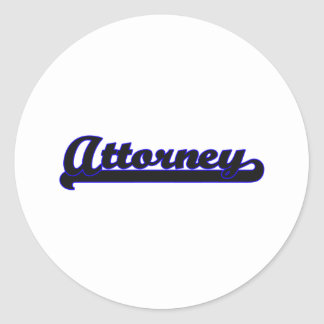 Attorney Classic Job Design Classic Round Sticker