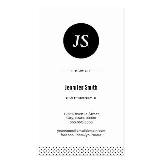 Attorney - Clean Black White Pack Of Standard Business Cards