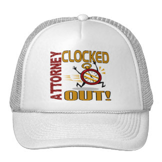 Attorney Clocked Out Hat