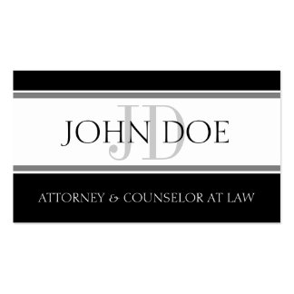 Attorney D Stripe W/W Business Card Template