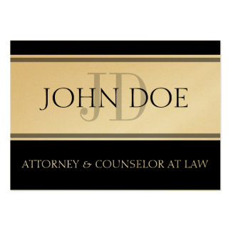 Attorney D Stripe W/W Oversized Gold Card Business Cards