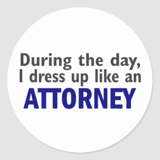 Attorney During The Day Sticker