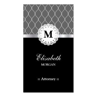Attorney Elegant Black Lace Pattern Pack Of Standard Business Cards