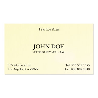 Attorney Elegant Clean II Pack Of Standard Business Cards