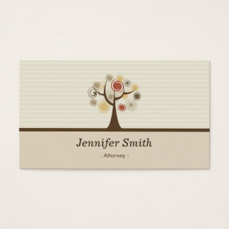 Attorney - Elegant Natural Theme Business Card
