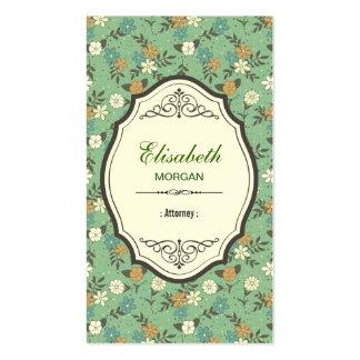 Attorney - Elegant Vintage Floral Pack Of Standard Business Cards