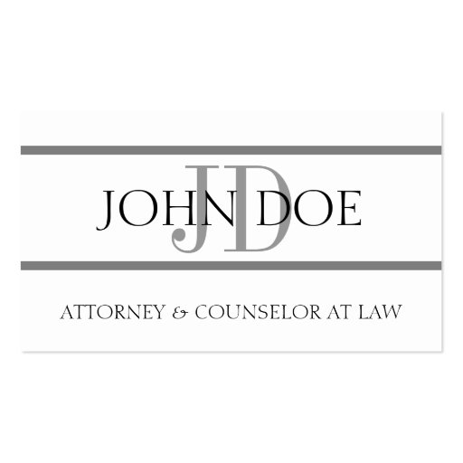 Attorney G Stripe W/W - Available Letterhead - Business Card Template