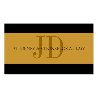 Attorney Gold Gold - Available Letterhead - Business Card Templates