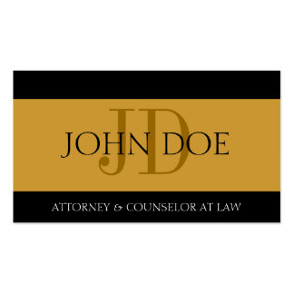 Attorney Gold/Gold Bar Business Card Template