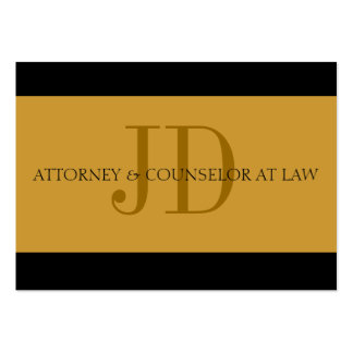 Attorney Gold/Gold Oversized Card Business Cards