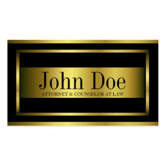 Attorney Gold Metal Metallic Border Business Card