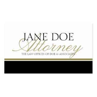 Attorney Gold Script Double-Sided Standard Business Cards (Pack Of 100)