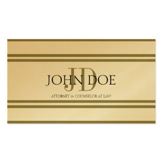 Attorney Golden Deluxe Stripes -Avail Letterhead- Business Card Templates