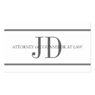 Attorney Horiz Stripe W W Business Card
