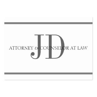Attorney Horiz Stripe W/W Oversized Card Business Card Templates