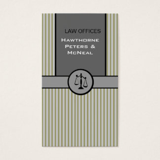 Attorney Justice Scale Business Card