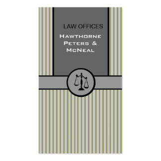 Attorney Justice Scale Pack Of Standard Business Cards