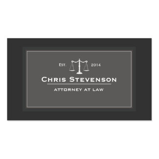 Attorney Justice Scale Traditional Black and White Pack Of Standard Business Cards