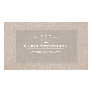 Attorney Justice Scale Traditional Vintage Style Pack Of Standard Business Cards