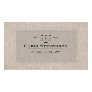 Attorney Justice Scale Traditional Vintage Style Business Card Template