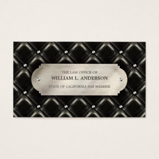 Attorney Law Office Lawyer Leather business card