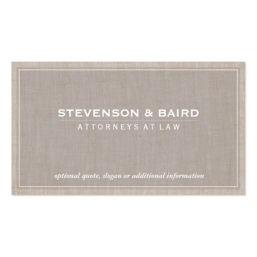 Attorney Law Office Linen Texture Elegant Classic Pack Of Standard Business Cards